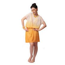 S1- Net Kimono Ombre Dyed, m,  yellow
