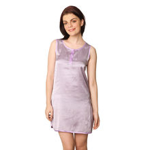 C70- Sleeveless Satin Kurta, m,  purple