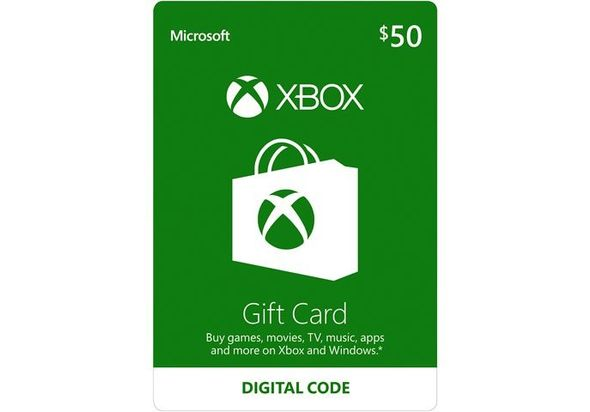 $50 Xbox Live Gift Card