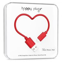 Happy Plugs lightning charge/sync cable, Red