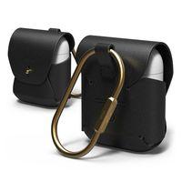 Elago Airpods Genuine Leather Case,  Black