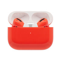 Switch Custom Painted Original Apple Airpods Pro in Coral gloss Finish