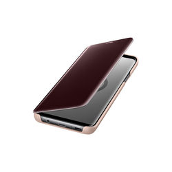 Samsung Galaxy S9 Clear View Stand Cover, Gold