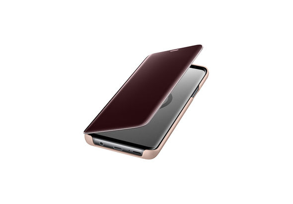 Samsung Galaxy S9+ Clear View Stand Cover, Gold