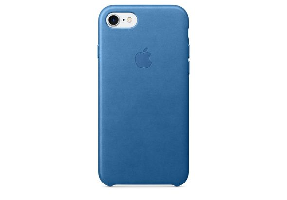 Apple iPhone 7 Leather Case, Sea Blue