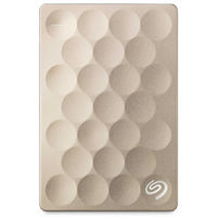 Seagate Backup Plus Ultra Slim 1TB Portable Drive, Gold
