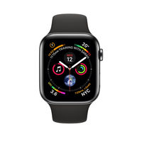Apple Watch Series 4 44mm Space Black Stainless Steel Case with Black Sport Band