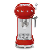 Smeg ECF01RDUK Espresso Coffee Machine, Red