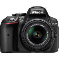Nikon D5300 DSLR Camera with 18-55mm 5300+ 55-200 Lens, Black