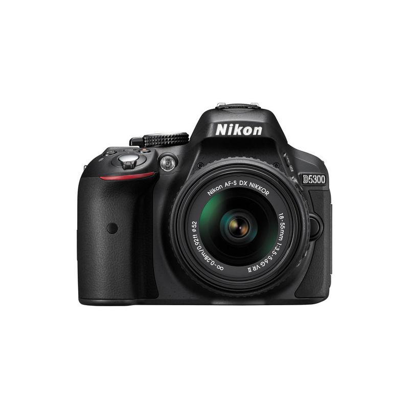 Nikon D5300 DSLR Camera with 5300+ 18-55+ 70-300 Lens, Black
