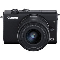 Canon EOS M200 Mirrorless Digital Camera with 15-45mm Lens, Black