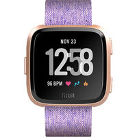 Fitbit Versa Fitness Watch, Special Edition Lavender Woven/Rose Gold Aluminum