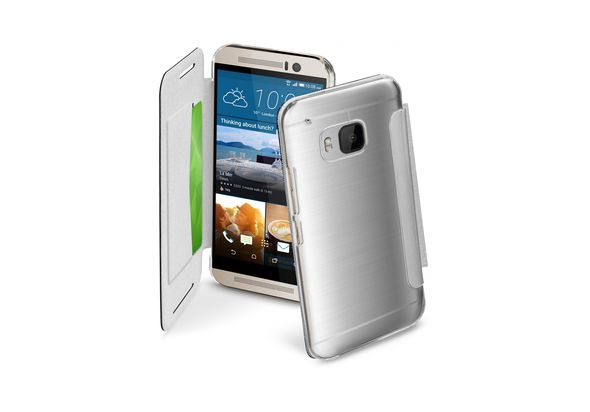 Cellularline Clear Book Case For HTC One M9, White