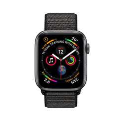 Apple Watch Series 4 44mm Space Gray Aluminum Case with Black Sport Loop