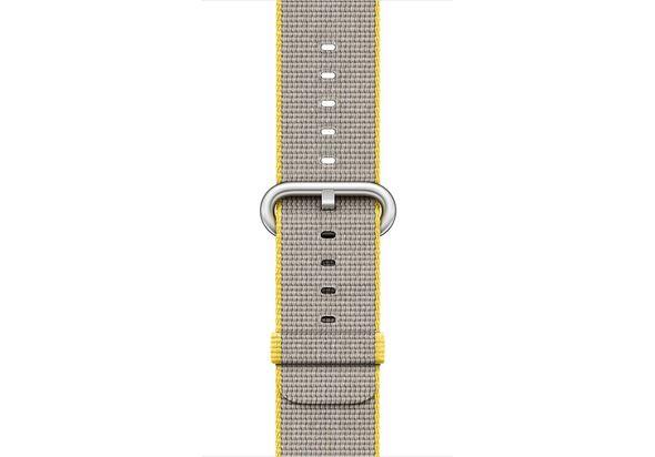 Apple 42mm Yellow/Light Grey Woven Nylon