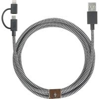 Native Union Belt 2m Lightning USB Charging Cable, Zebra