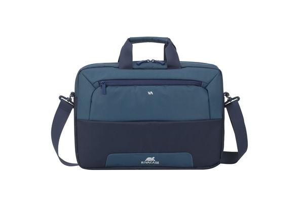 Rivacase 7737 Suzuka 15.6  Laptop Bag,  Steel Blue/Aquamarine