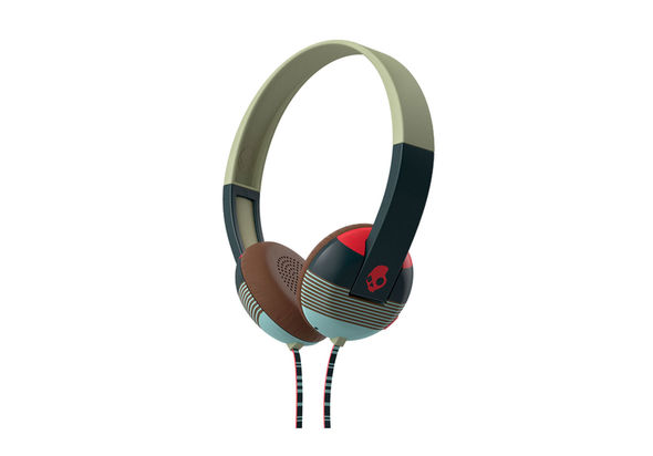 Skullcandy Uproar On-Ear with Tap Techstripe Headphone, Navy-Red