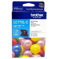Brother LC77XLC Cyan Super HY Ink Cartridge 1200Pages