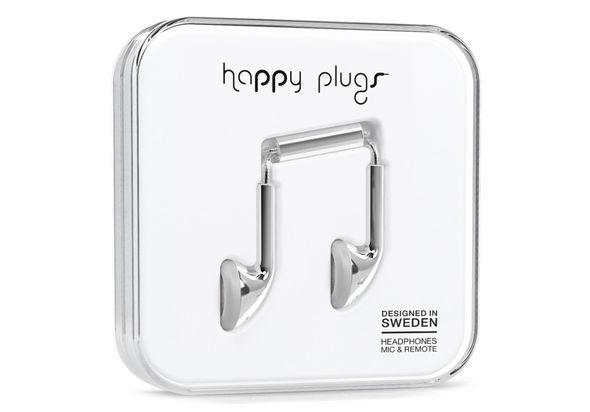 Happy Plugs Earbud, Silver