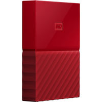 WD 4TB My Passport USB 3.0 Secure Portable Hard Drive, Red