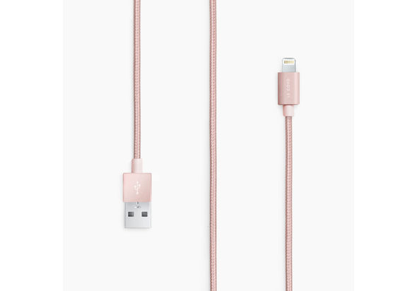 Lecord rose gold lightning usb cable 1m, Rose gold