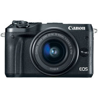 Canon EOS M6 Mirrorless Digital Camera with 15-45mm Lens, Black