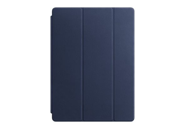 Apple Leather Smart Cover for 12.9  iPad Pro, Midnight Blue