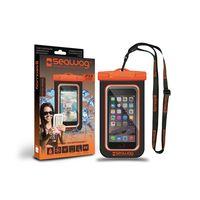 Seawag Waterproof case for smartphone, Black & Orange