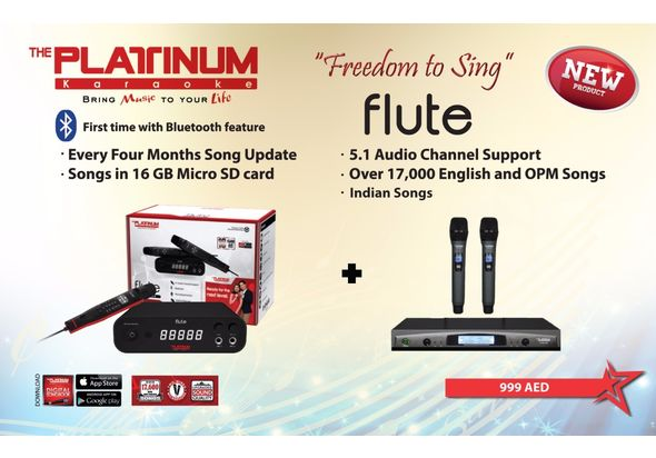 Platinum Karaoke Flute+ Wireless Mics
