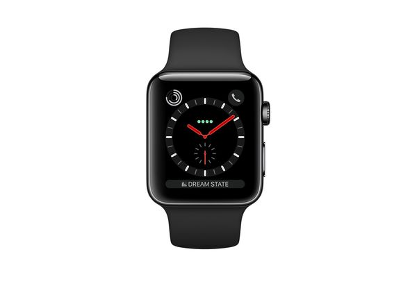 Apple Watch Series 3 with Cellular 42mm Space Black Stainless Steel Case with Black Sport Band