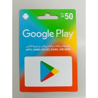 Google AED 50 Recharge Card for UAE
