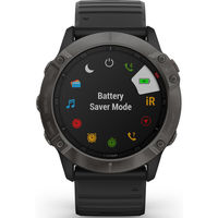 Garmin Fenix 6X Multisport GPS Watch, Black