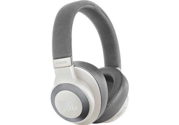 JBL E65BTNC Bluetooth Over-Ear Noise-Canceling Headphones,  White