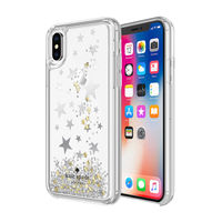 Kate Spade New York Case for iPhone X, Stars Silver/Star Confetti