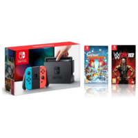 Nintendo Switch with WWE 18 and Scribblenauts Bundle