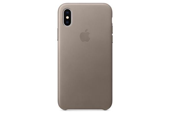 Apple iPhone X Leather Case, Taupe