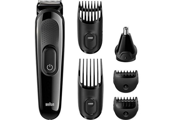 Braun multi grooming kit MGK3020 6 in one face and head trimming kit