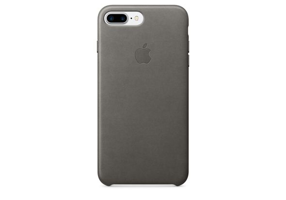 Apple iPhone 7 Plus Leather Case, Storm Gray
