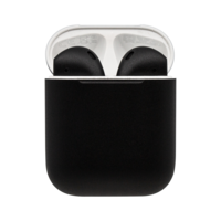 Customized Apple Airpods 2nd Gen by Switch, Matte,  Jet Black