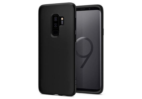 Spigen Liquid Crystal Case for Samsung Galaxy S9+ , Matte Black