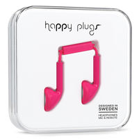 Happy Plugs Earbud, Cerise