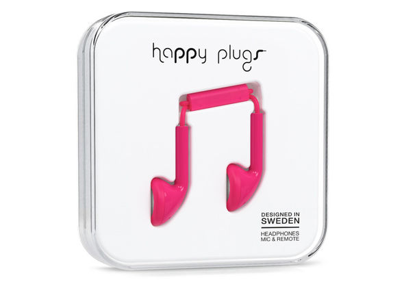 Happy Plugs Earbud, Cerise