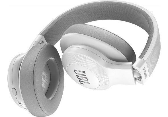 JBL E55BT Wireless over-ear headphones, White