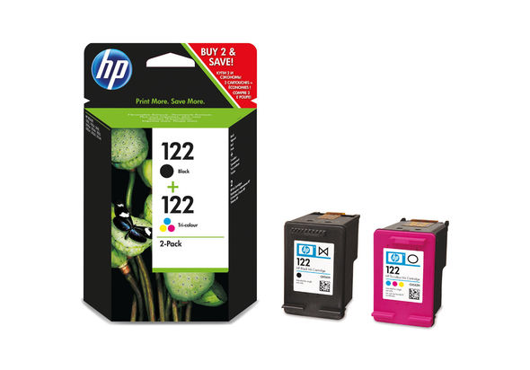 HP CR340HE 122 2-pack Black/Tri-color Original Ink Cartridges