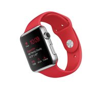 Apple Watch Sport, 42mm Stainless Steel Case with Red Sport Band