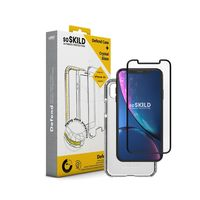 SoSkild Defend Heavy Impact Case Transparent and Tempered Glass for iPhone Xr