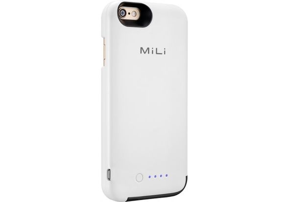 MiLi Power Spring 6 3500mAh Power Bank Case for iPhone 6, White