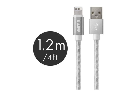 Laut 1.2M Lightning Cable Metallic, Silver