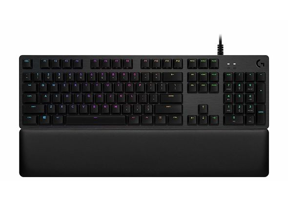 Logitech G513 RGB Mechanical Gaming Keyboard, GX Blue, USB Passthrough